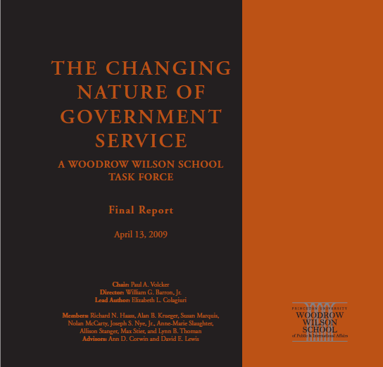 The changing nature of government service